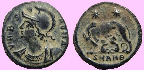 christian symbolism on coins of constantine the great